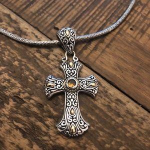 Beautiful Cross Pendant on Snake chain